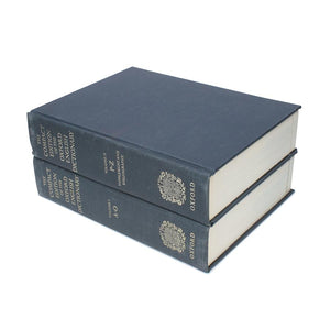 Compact Edition of the Oxford Dictionary - HUGE Hollow Book Stack of Two - Secret Storage Books