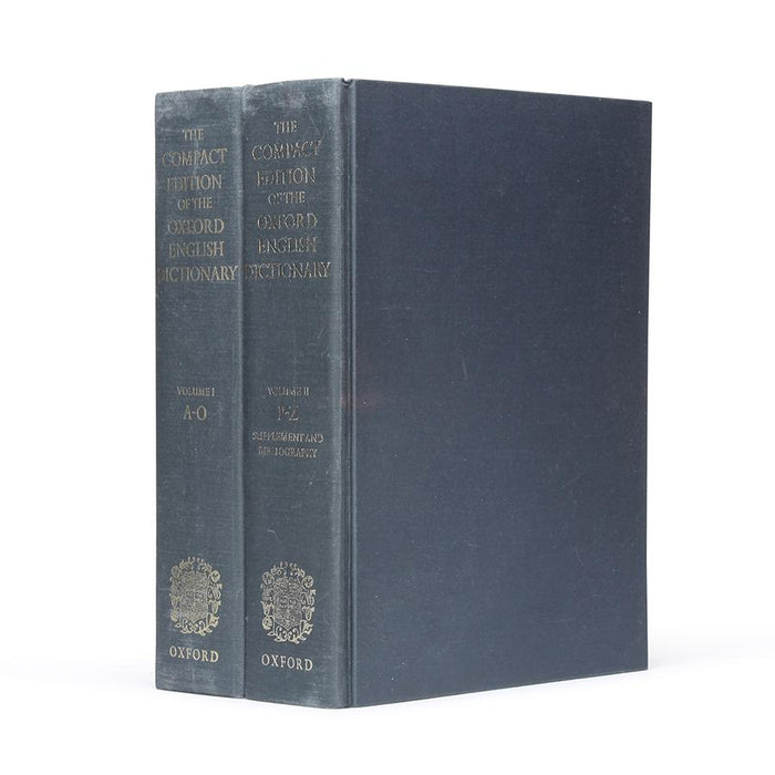 Compact Edition of the Oxford Dictionary - HUGE Hollow Book Stack of Two