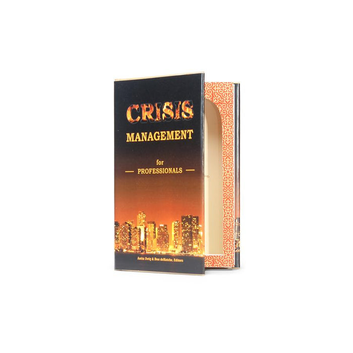 Crisis Management - Book Safe with Flask included
