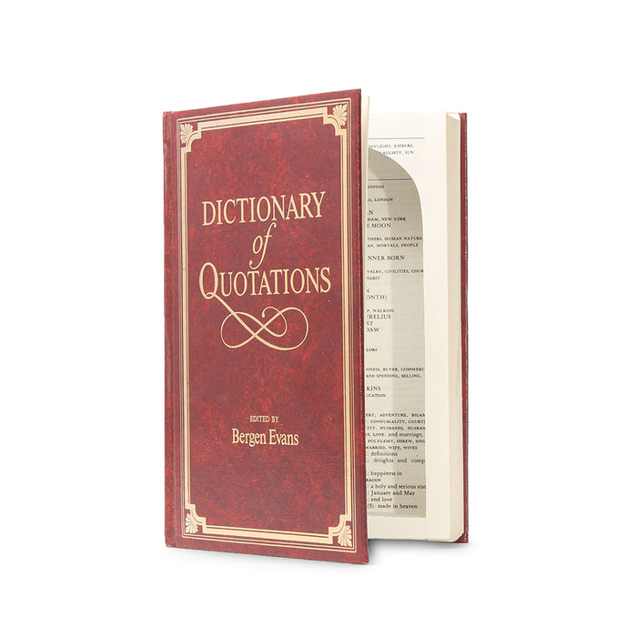 Dictionary of Quotations - Large Secret Storage Book