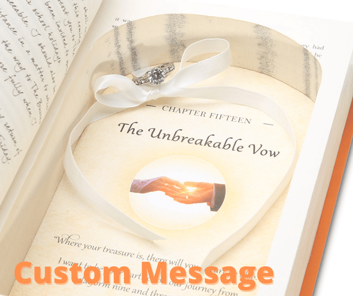 Harry Potter Proposal Ring Book Safe - Custom Message inside