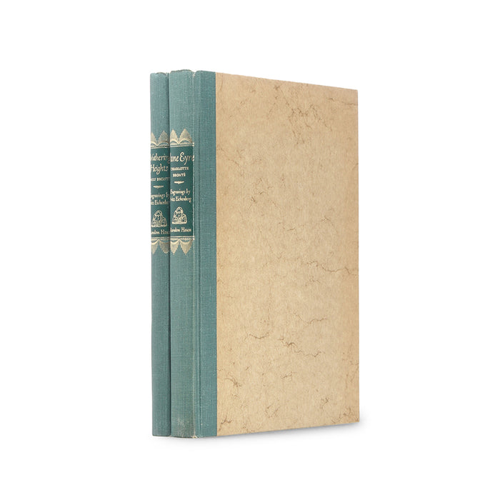 Jane Eyre and Wuthering Heights - Stack of TWO Vintage Hollow Book