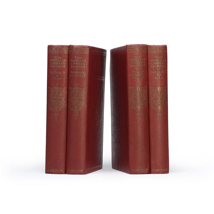 Novels of Charles Dickens - Two stacks of TWO Vintage Book Safes