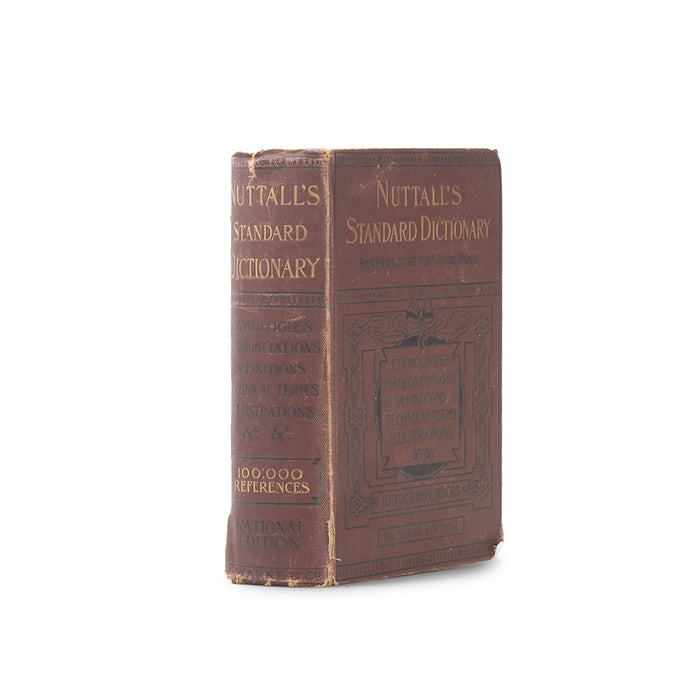 Nuttall's Standard Dictionary - Vintage Hollow Book