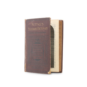 Nuttall's Standard Dictionary - Vintage Hollow Book - Secret Storage Books