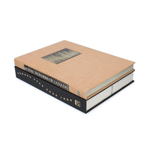 Scenic Wonders of Canada - Stack of TWO Hollow Book - Secret Storage Books