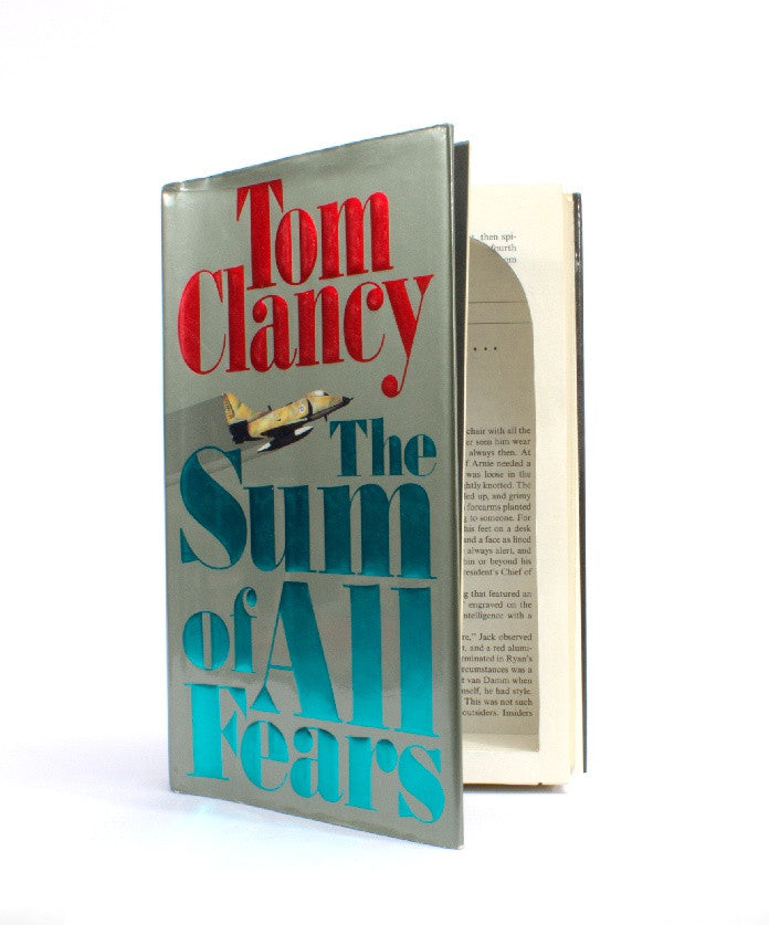 Sum of All Fears by Tom Clancey - Large Hollow Book