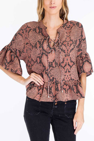 Brick Snakeskin Top