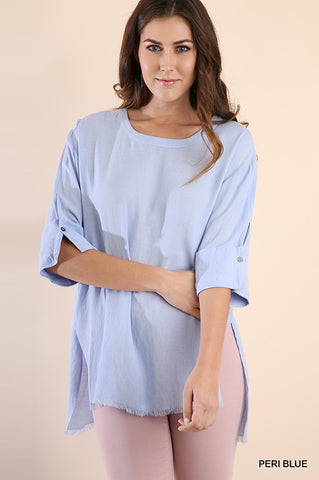 Blue Fray Tunic