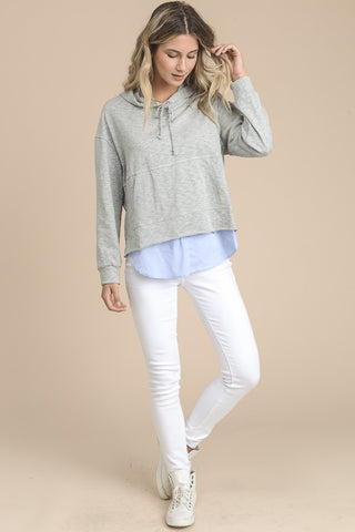 Hoodie with Layer Shirt