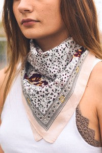 Neck Scarf- White