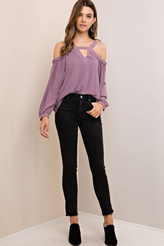 Charolette Top- Lilac