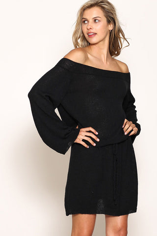 Perfect Sweater Dress- Black