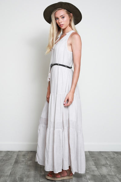 Layers Maxi Dress-Natural