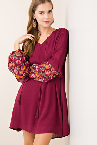 Embroidery Love Dress