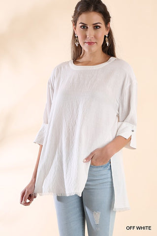 Fray White Tunic