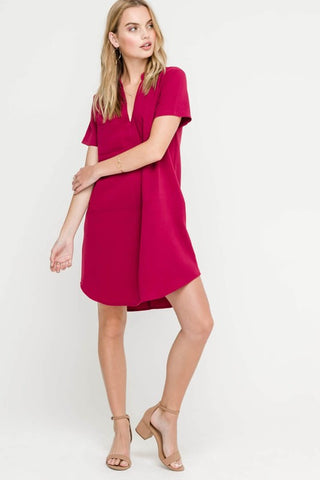 Plum Party Dress
