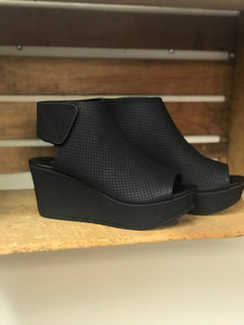 Black Perforated Wedge