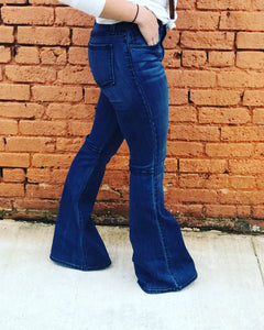 02 Denim Flared Bell Bottoms