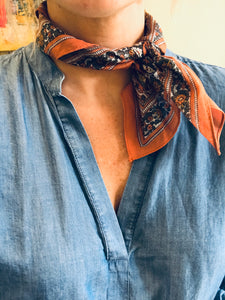 Neck Scarf- Rust