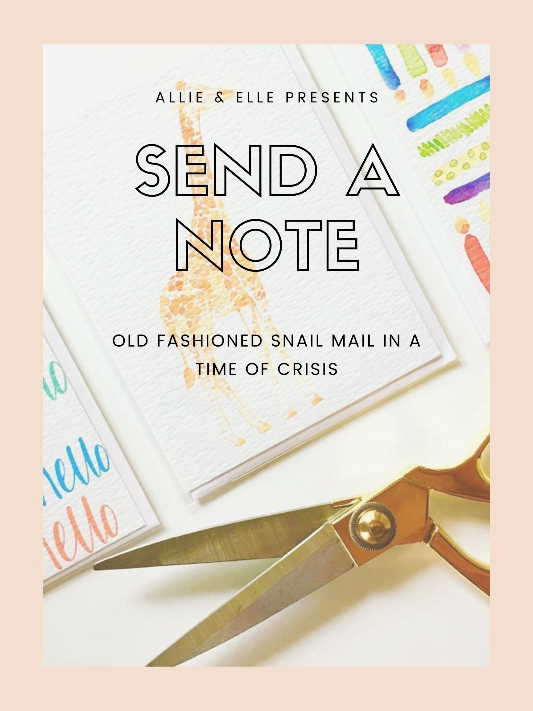 Old fashioned snail mail in a time of crisis