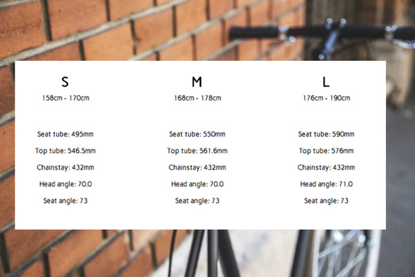 Sizing Chart - Creme Bicycles Available from Cruiser Republic