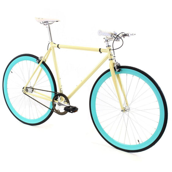 Golden Cycles Abigail Fixed Gear - Cyan and Sand