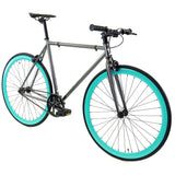 Golden Cycles Aquarius Fixed Gear - Cyan and Metallic Grey Golden Cycles (ISD)