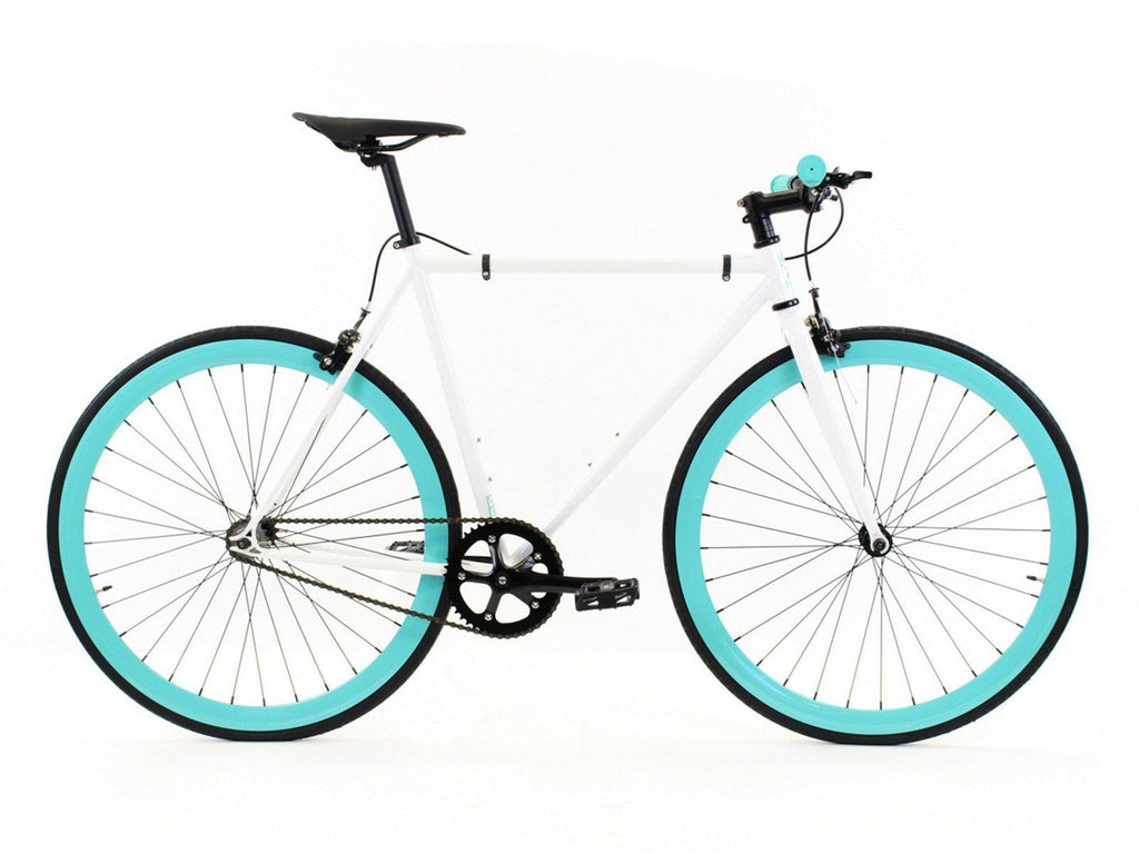 Golden Cycles Heaven Fixed Gear - Cyan and White