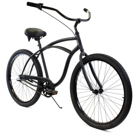 Zycle Fix ZF Bike Classic Men: 3 Speed Matte Black Cruiser Republic