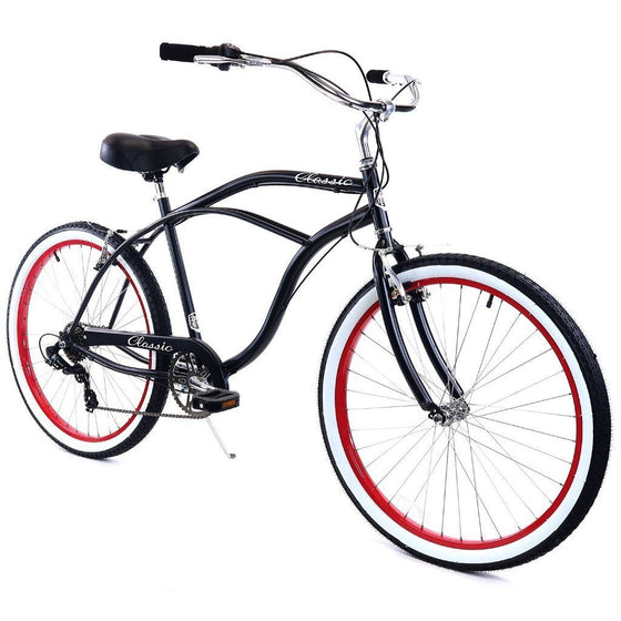 ZF Bikes Classic Men 7spd - Black and Red