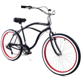 ZF Bikes Classic Men 7spd - Black and Red ZF Bikes (ISD)