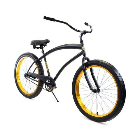Zycle Fix ZF Bikes Cobra Black Gold Cruiser Republic
