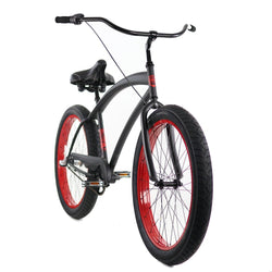 Zycle Fix ZF Bikes Cobra 3 Speed Black/Red Cruiser Republic