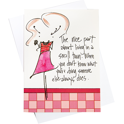 Small Town Greeting Card (18036)