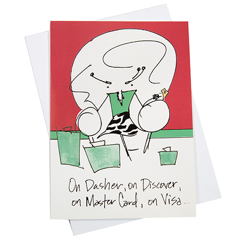 On Dasher, On Discover, Master Card, Visa, Greeting Card (18050)