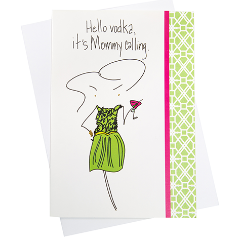 Hello Vodka Greeting Card (18076)