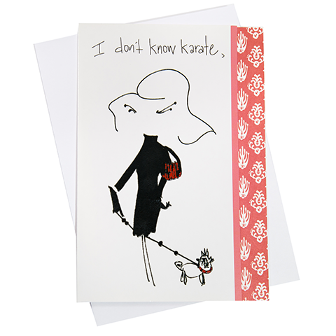 Don't Know Karate Greeting Card (18078)