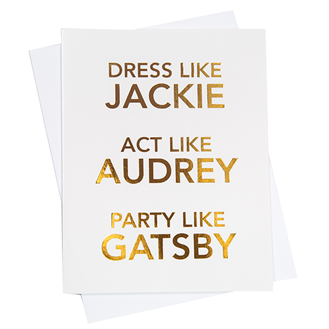 Dress Like Jackie Greeting Card (18091)
