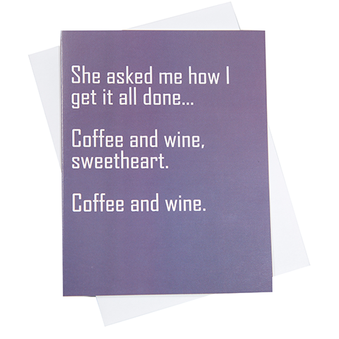 Coffee & Wine Greeting Card (18093)
