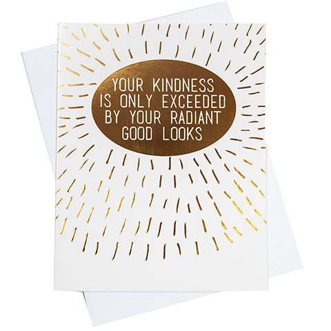Radiant Good Looks Greeting Card (18098)