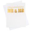 Mr. & Mr. Greeting Card (18100)