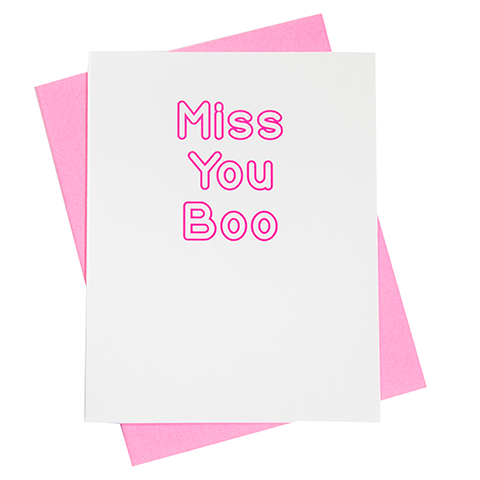 Miss You Boo Greeting Card (18105)