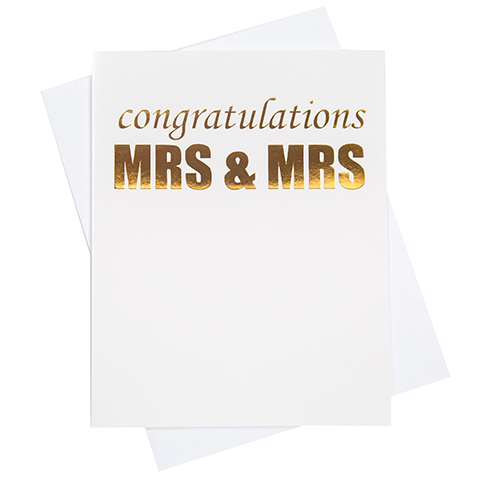 Mrs. & Mrs. Congratulations Greeting Card (18106)