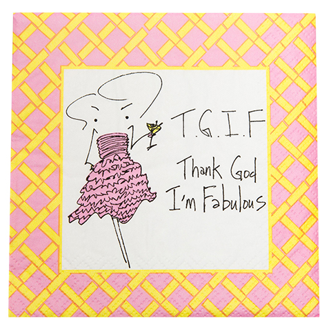 TGIF - Thank God I'm Fabulous Napkin (20136)