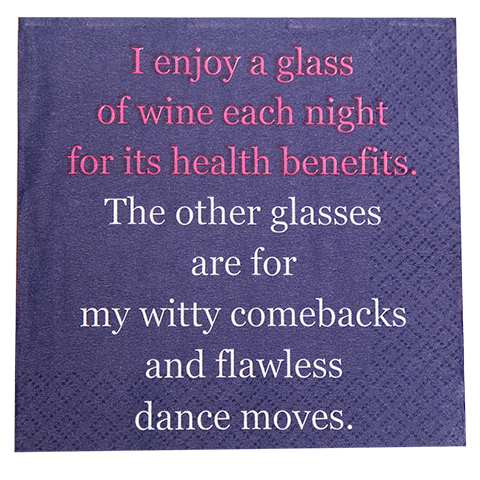 I enjoy a glass of Wine- Napkin (20160)