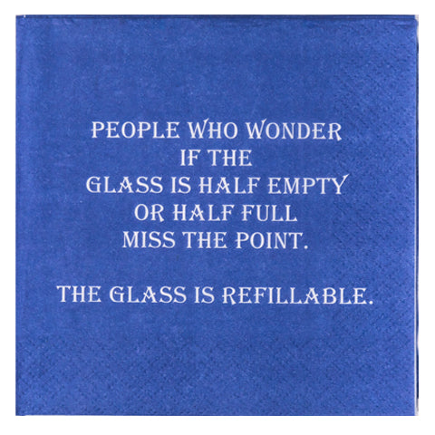 Glass Is Refillable- Napkin (20168)