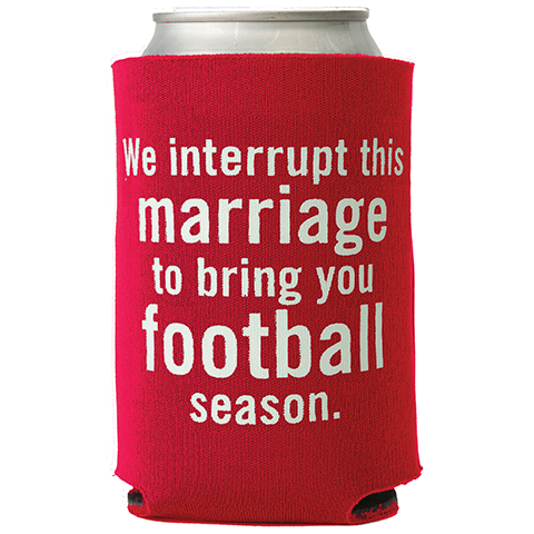 Football Season, Red & White Can Cooler (23029)