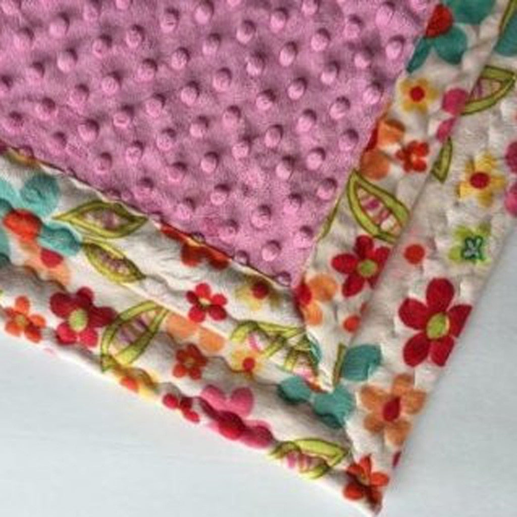Minky Baby Blanket Floral (30