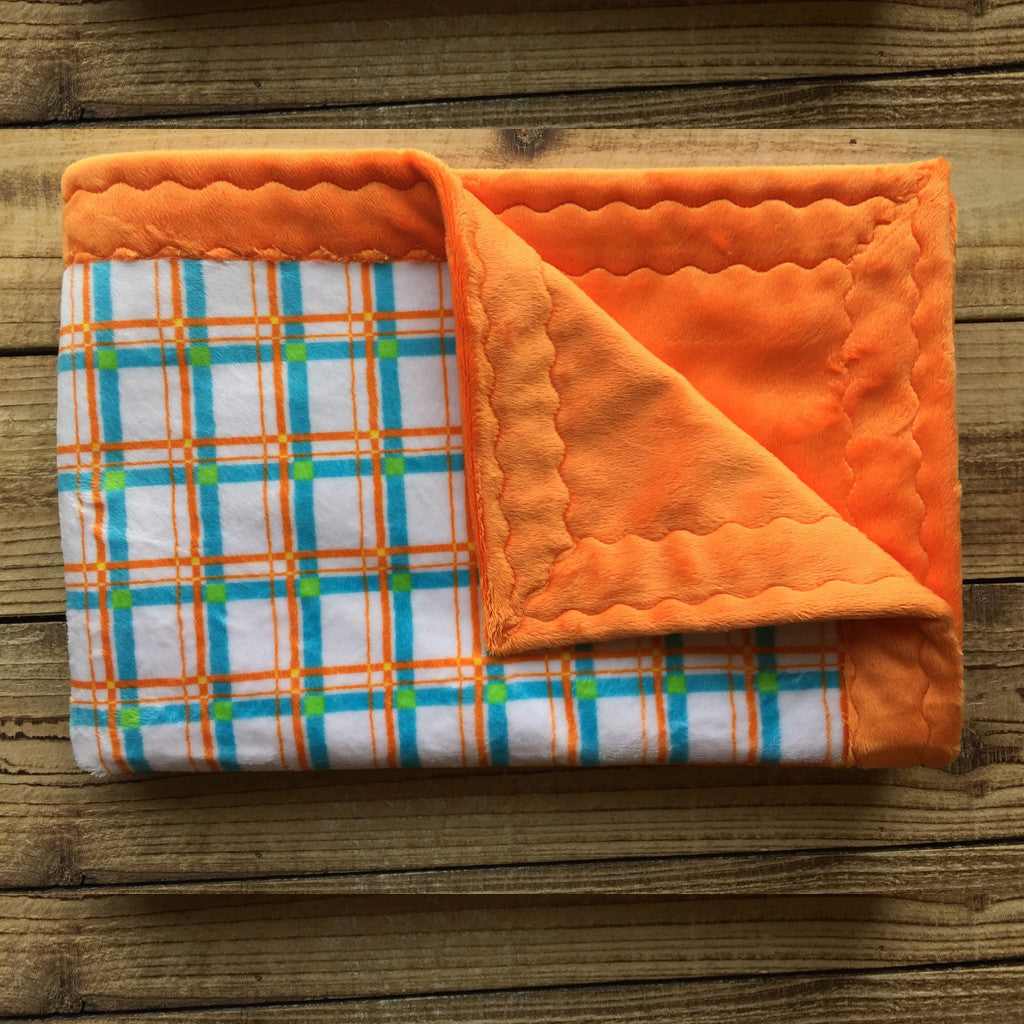 Baby Minky Blankets - Unisex Plaid (30